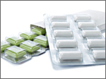 Chewing Gum with box. isolated over white